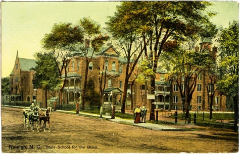 North Carolina School (Asylum) for the Deaf, Dumb, and Blind [Raleigh]. Available from NC Postcard Collection, UNC Libraries.